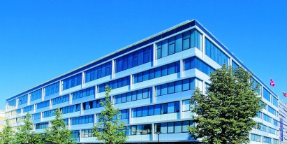 Fitted office space available for rent in modern office and administrative building in Geneva.